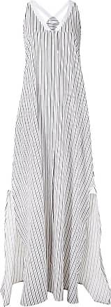 Rosetta Getty Vestido listrado - Branco