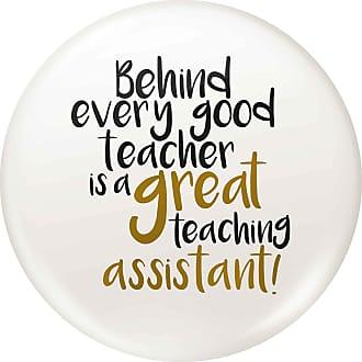 Flox Creative Small 25mm Pin Badge Good Teacher Great Teaching Assistant