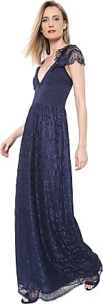 Carmim Vestido Carmim Longo Kate Azul-marinho