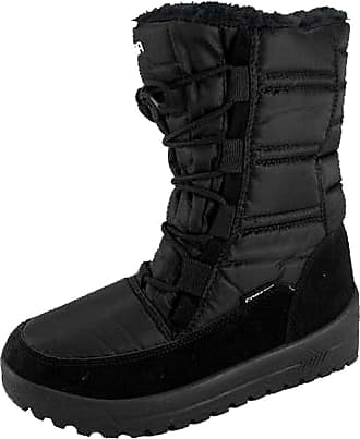Iceberg Ladies Faux Fur Lined Padded Winter Boots in Black - eu40 /7 UK