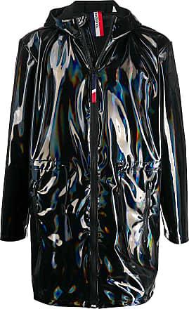 Rossignol iridescent hooded rain coat - Black