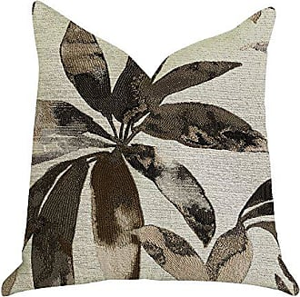Plutus Brands Santorini Cove Double Sided King Luxury Throw Pillow 20 x 36 Beige/Brown
