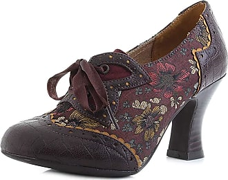 Ruby Shoo Womens Daisy Russet Lace-Up Court Shoes 09307 5 UK