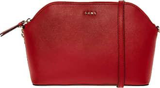 DKNY Bright Red Leather Dome Crossbody Bag