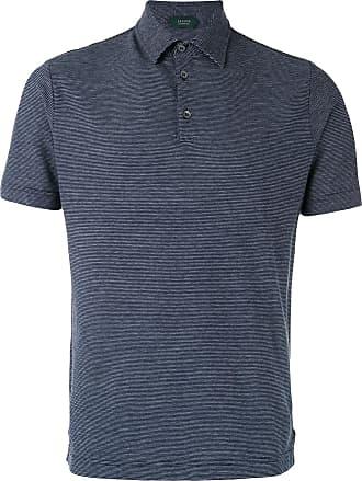 Zanone Camisa polo clássica - Azul