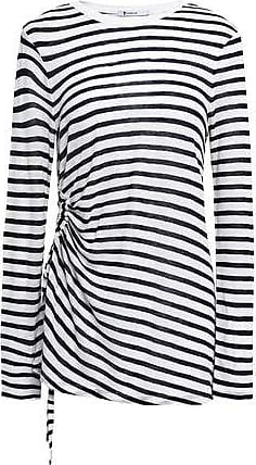 super popular 1a069 98aa8 T Alexander Wang Alexanderwang.t Woman Striped Slub Jersey Top Off-white  Size L