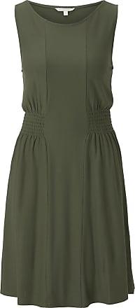 Tom Tailor Jersey-Minikleid mit Smocking-Detail, Damen, Dusty Rifle Green, Größe: XXL