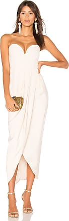 Shona Joy Bustier Draped Maxi Dress in Nude
