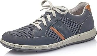 Rieker Men Lace-Up Flats 17310, Men´s Casual lace-up,Trainer,Sneaker,Low Shoes,lace-up Shoe,Street Shoe,Sporty,Casual,Pazifik,45 EU / 10,5 UK