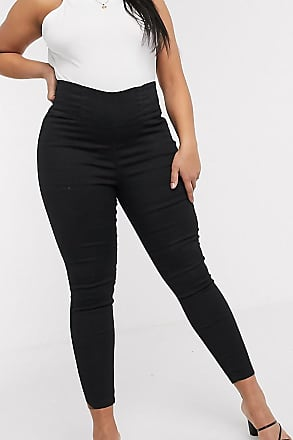 Urban Bliss super stretch pull on skinny jeans-Black