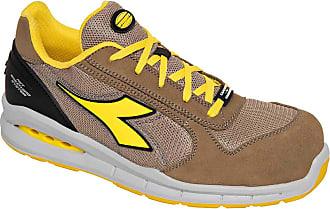 Diadora Run Net Airbox Low S1P SRC Unisex Safety Shoes Beige Size: 4 UK