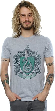 Harry Potter Mens Slytherin Distressed Crest T-Shirt XX-Large Sport Grey