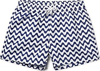 Frescobol Carioca Copacabana Slim-fit Short-length Printed Swim Shorts - Navy