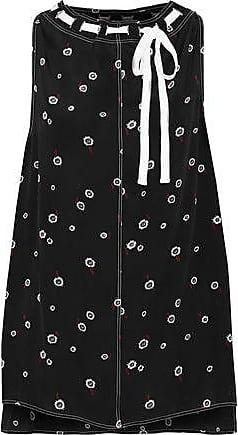 Proenza Schouler Proenza Schouler Woman Tie-neck Printed Silk Crepe De Chine Blouse Black Size 6