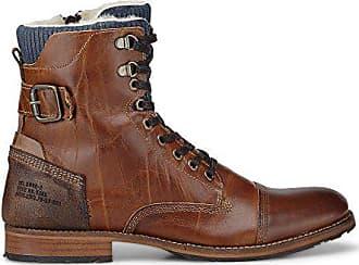 d18b24d82547 Cox Herren Herren Winter-Boots aus Leder, Schnür-Stiefel in Braun mit  angenehmem