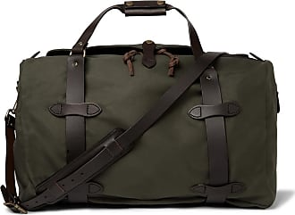 Filson Leather-trimmed Twill Duffle Bag - Green
