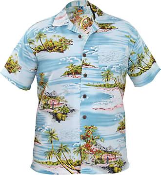 True Face Mens TF Hawi Shirts Moutain Aqua 3XL
