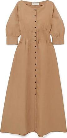 Mara Hoffman Amia Tencel And Linen-blend Maxi Dress - Tan