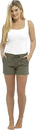 Tom Franks LADIES / WOMENS CASUAL LINEN COOL SHORTS, PERFECT FOR HOLIDAYS / SUMMER / BEACH (18, Khaki Shortie)