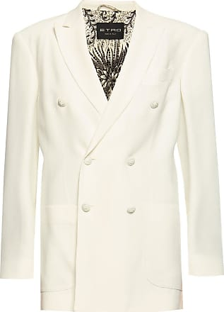 Etro Blazer With Decorative Buttons Womens White