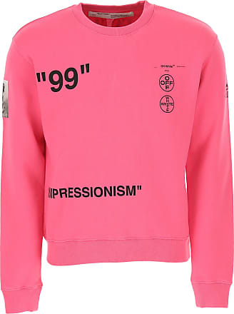 Off-white Sweatshirt for Men On Sale, fuxia, Cotton, 2017, S XS