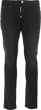 Philipp Plein Jeans, Bluejeans, Denim Jeans für Herren Günstig im Sale,  Schwarz, 234102f19a