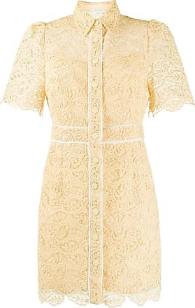 Sandro mini lace shirt dress - NEUTRALS
