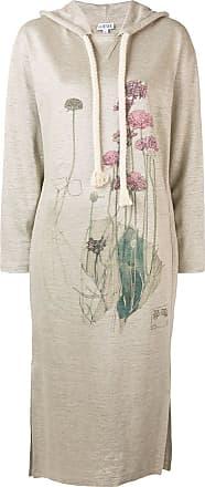 Loewe Botanical hoodie dress - Neutrals