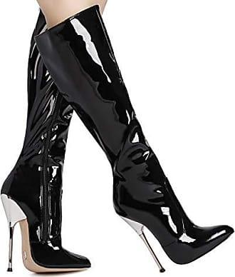 Giaro Bigger Black Matte Stiefel in Übergrößen Schwarz große