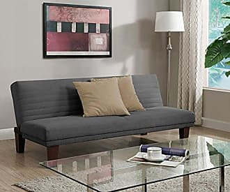 Dorel Home Products DHP Dillan Convertible Futon with Microfiber Upholstery, Grey