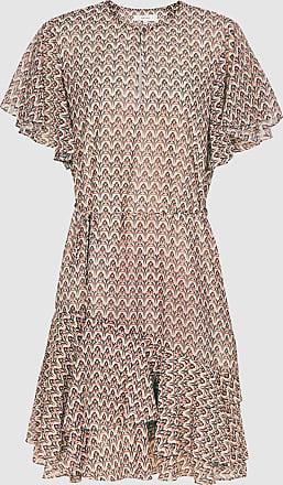 Reiss Anna - Printed Mini Dress in Cream Print, Womens, Size 18
