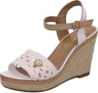 4709ff46cf4 Tom Tailor Womens 6990805 Open Toe Sandals White Size  7 UK