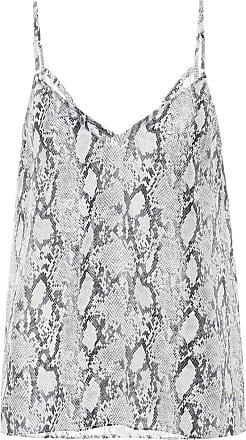 Frame Denim Snake-print silk camisole