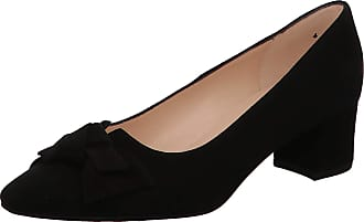 Peter Kaiser Blia Wide Fit Court Shoes in Black Suede 7.5 Black SUED