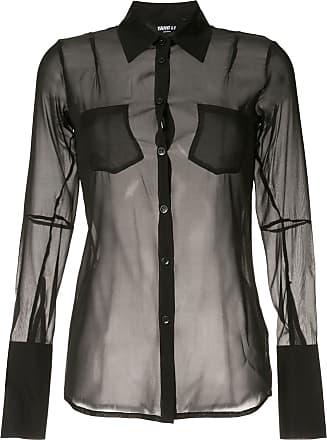 Yang Li Camisa translúcida - Preto
