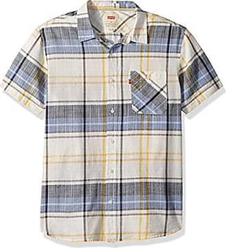 Levi's Mens Garland Short Sleeve Woven Shirt, marshmallow, XX Large