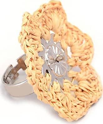 Tinna Jewelry Anel Flor De Palha Grande (Prateado)
