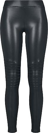 Urban Classics Ladies Faux Leather Biker Leggings - Leggings - schwarz