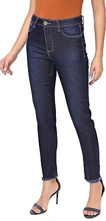 Sawary Calça Jeans Sawary Slim Desfiada Azul