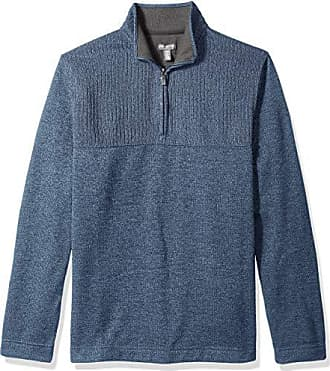 Van Heusen Mens Big and Tall Flex 1/4-zip Solid Sweater, blue forever blue, 2X-Large Big