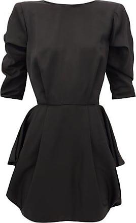 Alexandre Vauthier Puff-sleeve Satin-twill Mini Dress - Womens - Black