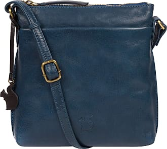Pure Luxuries London Conkca London Nikita Womens 22cm Biodegradable Leather Cross Body Bag with Zip Over Top, 100% Cotton Lining and Adjustable Slimline Leather Strap in S