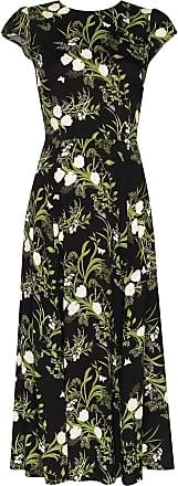 Reformation Vestido Gavin com fenda e estampa floral - Preto