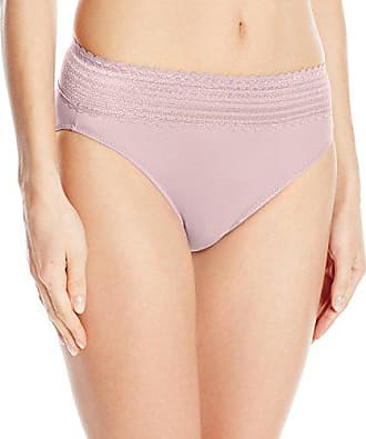 Warner's Womens No Pinching No Problems Lace Hi Cut Brief Panty, Pale Pink, XX-Large