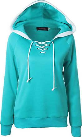 NPRADLA Women 2020 Winter Warm Hoodie Casual V-Neck Hooded Collar Plus Size Jacket Sky Blue