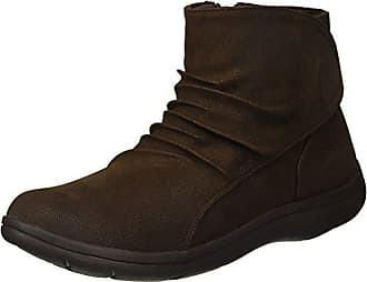 Skechers Womens Lite Step-Tricky Ankle Bootie,Chocolate,6 M US