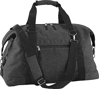 BagBase Bagbase Vintage Canvas Weekender / Holdall Carry Bag (30 Litres) (One Size) (Vintage Black)