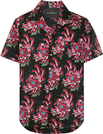 John Richmond Camisa com estampa havaiana - Preto