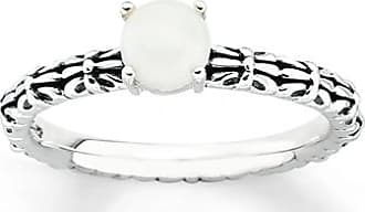 Kay Jewelers Stackable Ring White Agate Sterling Silver