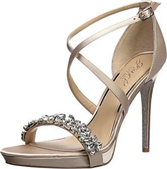 Badgley Mischka Jewel Womens DANY Heeled Sandal Champagne Satin 7 M US